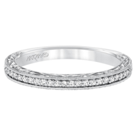 ArtCarved_14K_White_Gold_Althea_Diamond_Band,_0.11cttw