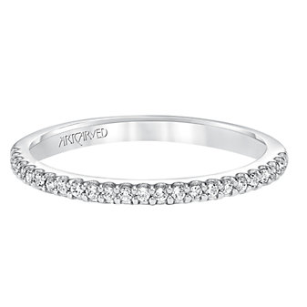 ArtCarved 14K White Gold Kira Diamond Band, 0.14cttw