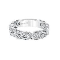 ArtCarved_14K_White_Gold_and_Round_Diamond_Floral_Cut_Anniversary_Band