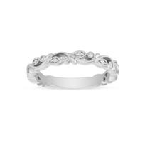 ArtCarved_14K_White_Gold_Diamond_Filigree_Pattern_Wedding_Band_