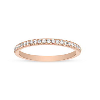 Precision Set 14K Rose Gold Diamond Wedding Band