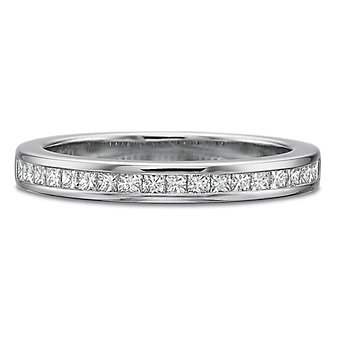 Platinum Princess Cut Diamond Band