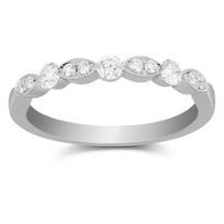 18K_White_Gold_Scalloped_Diamond_Band_With_Milgrain