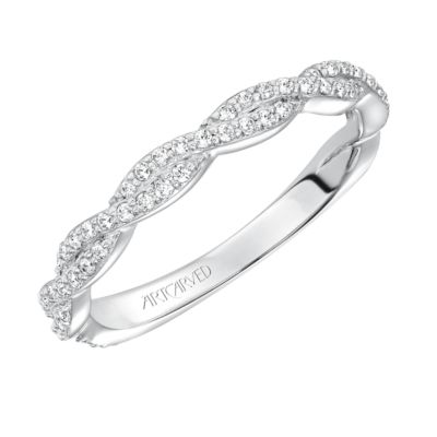 ArtCarved 14K White Gold Madeline Diamond Wedding Band
