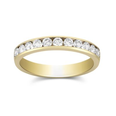 14K Yellow Gold Channel Set Diamond Band, 0.50cttw