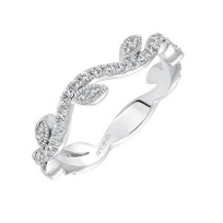 ArtCarved_14K_White_Gold_and_Round_Diamond_Leaf_Accent_Anniversary_Band