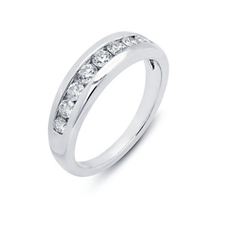 Peter Storm 18K White Gold Channel Set Diamond Anniversary Band, 0.55cttw