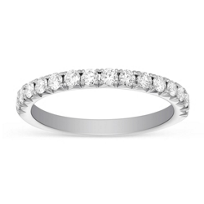 Henri_Daussi_18K_White_Gold_Prong_Set_Diamond_Anniversary_Band__