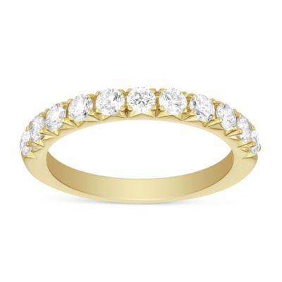 14K Yellow Gold Round Diamond Anniversary Ring