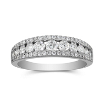 18K_White_Gold_Three_Row_Diamond_Band,_1.01cttw