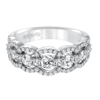 ArtCarved_14K_White_Gold_Scalloped_Diamond_Band,_1.03cttw
