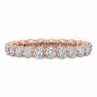 Precision Set 18K Rose Gold Diamond Flush Fit Eternity Band
