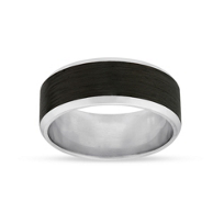 Furrer-Jacot_Platinum_and_Black_Carbon_Fiber_Wedding_Band,_8_mm