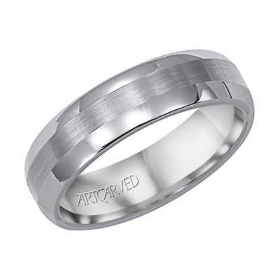 ArtCarved Tungsten Comfort Fit Brushed Finish Wedding Band, 6MM