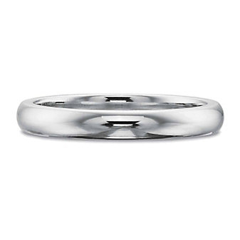 Precision Set 18K White Gold Band, 2.7mm