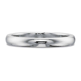 Precision Set 18K White Gold Band, 2.5mm