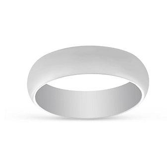 Platinum Plain Comfort Fit Wedding Band, 6mm