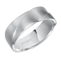 ArtCarved_Platinum_Ramsay_Woven_Satin_Comfort_Fit_Wedding_Band,_7MM