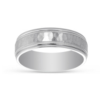 14K_White_Gold_Hammered_Milgrain_Wedding_Band,_6.5mm