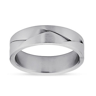 Furrer-Jacot 18K White Gold Woven Band, 6mm