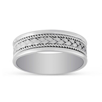 14K_White_Gold_Woven_Wedding_Band,_7mm