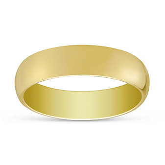 14K Yellow Gold Comfort Fit Wedding Band, 6mm