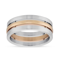 Furrer-Jacot_Palladium_&_18K_Rose_Gold_3_Row_Wedding_Band,_7.5mm