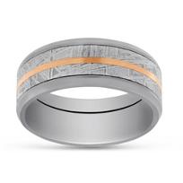 14K_Rose_Gold,_Zirconium_and_Meteorite_Wedding_Band