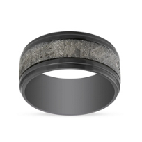 Zirconium_and_Meteorite_Wedding_Band,_10mm