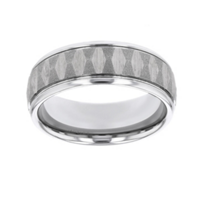Tungsten_8mm_Comfort_Fit_Textured_Pattern_Wedding_Band_with_High_Polish_Edges,_Size_10