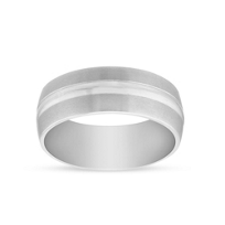 Black_and_White_Tungsten_8mm_Satin_Edge_Wedding_Band,_Size_10