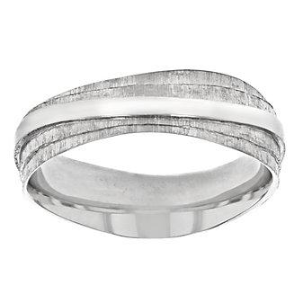 furrer jacot palladium 7mm textured wave wedding band, size 9.5