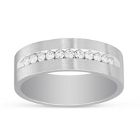 14K_White_Gold_Men's_Diamond_Wedding_Band