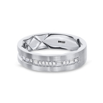 a._jaffe_14k_white_gold_diamond_men's_wedding_band_with_quilted_pattern_interior,_0.17cttw