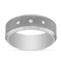 Tungsten_8mm_Comfort_Fit_3_Diamond_Inlay_Matte_Wedding_Band,_Size_10