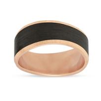 Furrer-Jacot_18K_Rose_Gold_and_Black_Carbon_Fiber_Wave_Wedding_Band,_9mm