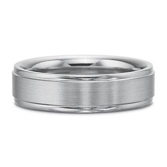 Precision Set Palladium Matte and Polished Band, 6mm