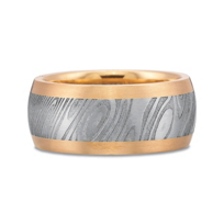 Precision_Set_18K_Rose_Gold_&_Damascus_Steel_Band,_10mm
