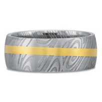 Precision_Set_18K_Yellow_Gold_&_Damascus_Steel_Band,_8mm