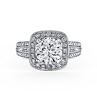 kirk kara platinum carmella collection diamond halo ring mounting