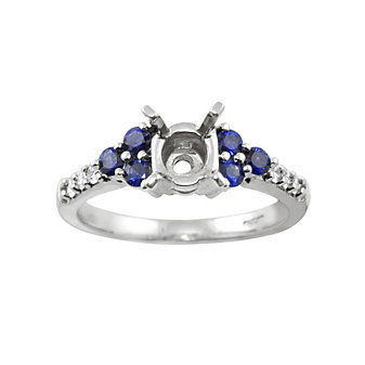 18K Sapphire and Diamond Mounting