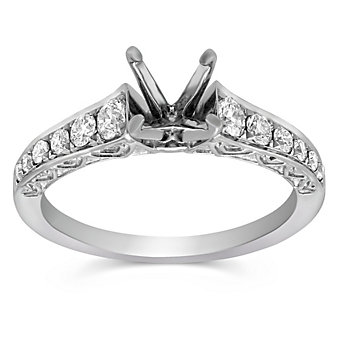 14K Diamond Engagement Ring Mounting