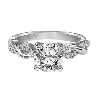 ArtCarved 14K White Gold Gabriella Diamond Engagement Ring Setting
