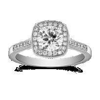 14K_White_Gold_Cushion_Shape_Halo_Ring_Mounting