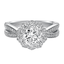 ArtCarved_14K_White_Gold_Flora_Diamond_Engagement_Ring_Setting