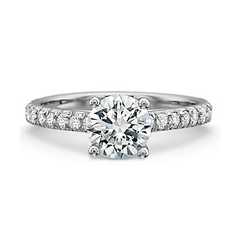 18K White Gold New Aire Diamond Ring Mounting