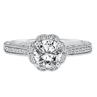 ArtCarved 14K White Gold Althea Diamond Engagement Ring Setting