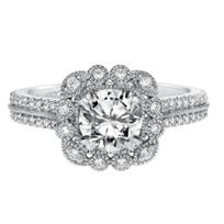 ArtCarved_14K_White_Gold_Jasmine_Diamond_Engagement_Ring_Setting