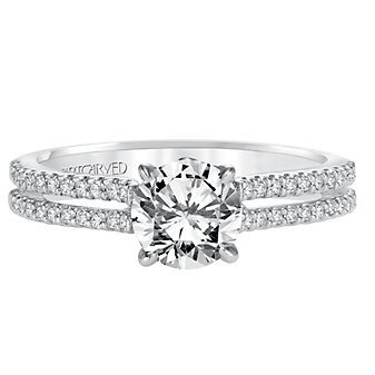 ArtCarved 14K White Gold Kira Diamond Engagement Ring Setting