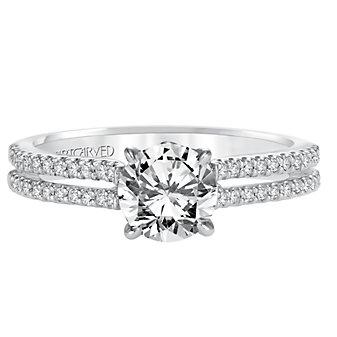 ArtCarved 14K White Gold Kira Diamond Engagement Ring Setting
